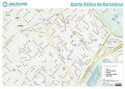 Mapa De Barrio Gotico De Barcelona Para Imprimir