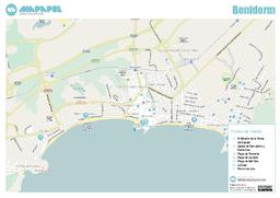 Mapa de Benidorm para imprimir