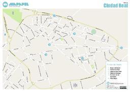 Mapa de ciudad real para imprimir - Plano de ciudad real ...