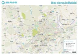 Mapa de Ikea stores in Madrid