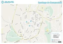 Callejero Mapa De Santiago De Compostela.Mapa De Santiago De Compostela Para Imprimir